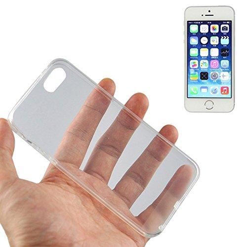 SCSY-phone case 0.45mm Material ultra fino del policarbonato TPU y caja de la jalea para el iPhone 5 y 5s y SE ( Color : Grey ) Transparent