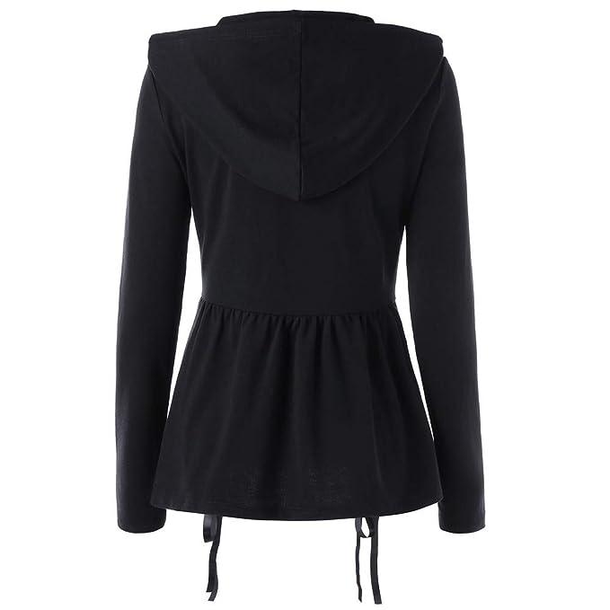 YKARITIANNA Womens Drawstring Hooded Long Sleeve Coat ...