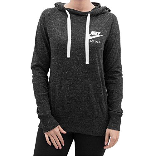 Women's Nike Sportswear Gym Vintage Hoodie Black/Sail Size Medium
