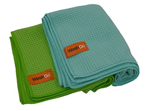 NEW 2-PACK! WASHDRI MICROFIBER CLOTH LARGE Car Drying Towel - 32' x 20' Premium Waffle Weave...
