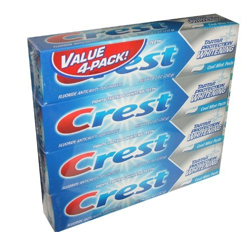 Crest Oral-B Tartar Protection Whitening Cool Mint Paste Fluoride Anticavity Toothpaste 8.2 Ounce Tube (8 ()
