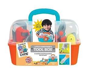 Small World Toys Living - Little Handyman's Tool Box 17 Pc. Playset