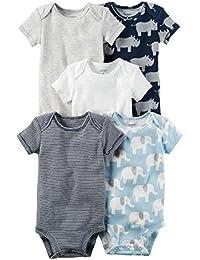 Baby Boys' 5-Pack Rhino Bodysuits 3 Months