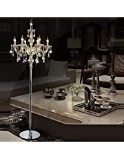 DKHF lámpara de Piso Crystal Floor Lamp Living Room Lamp Bedroom Lamp Crystal Floor Lamp Crystal