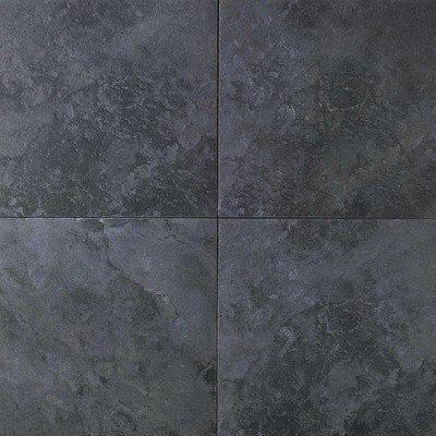 Continental Slate Porcelain Glazed Field Tile in Asian Black