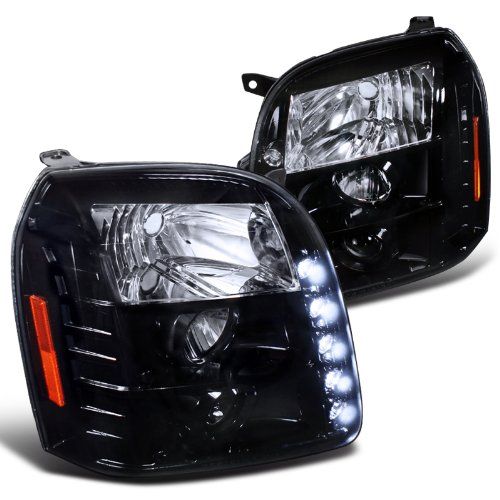 - Spec-D Tuning 2LHP-DEN07G-TM Gmc Yukon Denali Dual Halo Led Glossy Black Housing Projector Headlights
