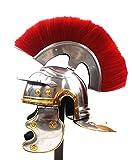 Replica Warehouse Roman Centurion Helmet w/Red Plume Armor Gladiator New