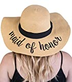 H-2017-MOH Funky Junque Bridal Sun Hat - Maid Of Honor