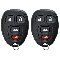 KeylessOption Keyless Entry Remote Control Car Key Fob Replacement for 15252034 (Pack of 2)