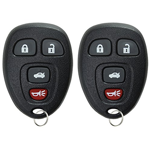 KeylessOption Keyless Entry Remote Control Car Key Fob Replacement for 15252034 (Pack of 2) (2007 Replacement Malibu Chevrolet)