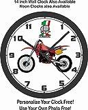 CAGIVA MOTOCROSS BIKE WALL CLOCK-YAMAHA, HONDA, APRILIA, BMW