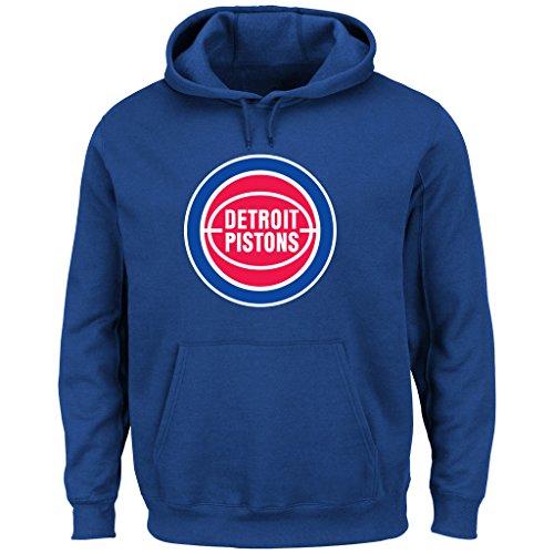 NBA Detroit Pistons 1975-96 Men's Tek Patch Fleece, Royal,