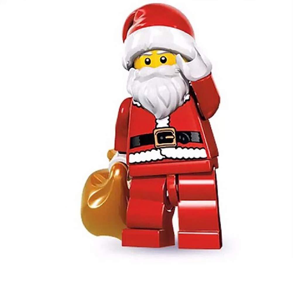 Hilai 1pc Noël Santa Collection Mini Dolls Briques de Construction Blocs Enfants Figurines Jouets Cadeaux