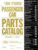 1984 Ford Part Numbers Book List Guide Manual Interchange Illustrations Factory