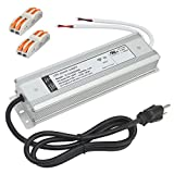 (UL Listed) 12V 150watt LED Driver 12.5A Waterproof IP67 Transformer, 12VDC LED Power Supply with 3 Prong AC Plug, 120V AC to 12V DC Adapter Power Converter