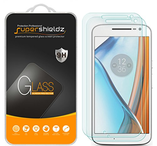 [2-Pack] Supershieldz for Motorola Moto G4 / Moto G (4th Generation) Tempered Glass Screen Protector, Anti-Scratch, Anti-Fingerprint, Bubble Free, Lifetime Replacement Warranty