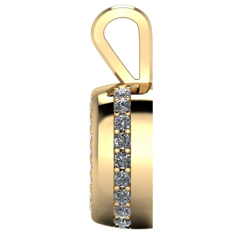 2.50 Ct Oval /& Round Cut Simulated Diamond Halo Pendant With 18 Chain In 14K White Gold Plated .925 Silver