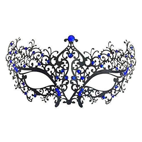 Mai Yi Venetian Style Metal Rhinestone Mask Lady Cat woman Halloween Masquerade