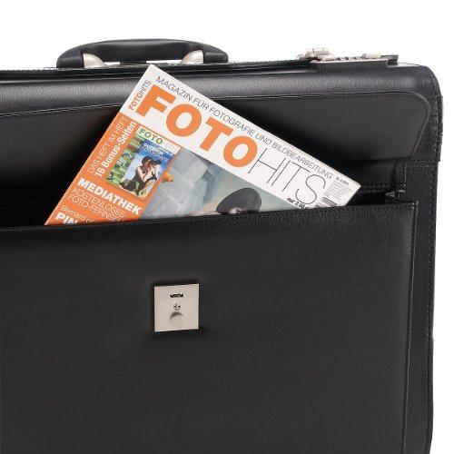 Dermata valise de pilote à roulettes noir taille xL 50 cm