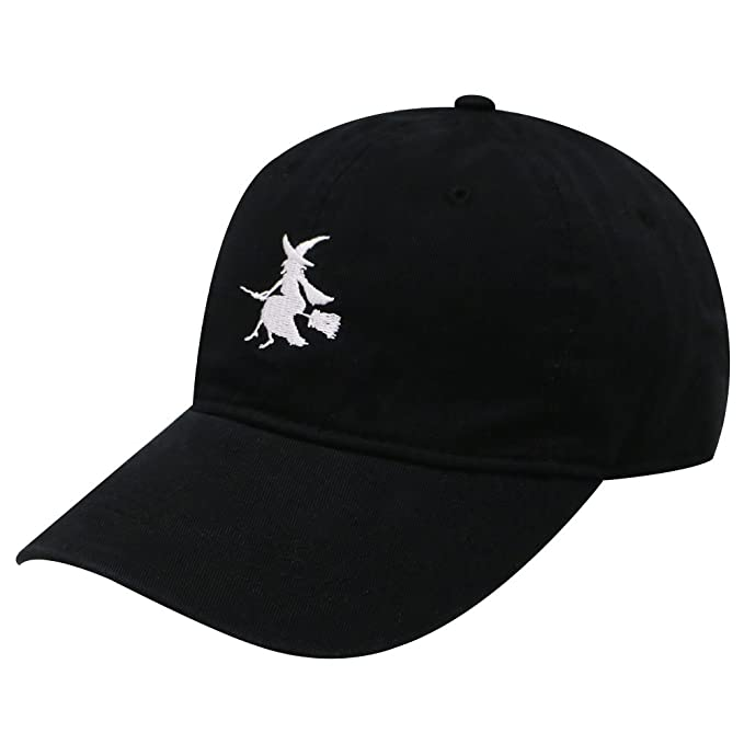 Amazon.com  C104 Witch   Broom Cotton Baseball Cap 15 Colors (Black ... c8a0ffb1965