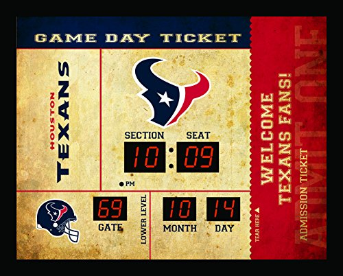 Houston Texans Clock - 14x19 Scoreboard - Bluetooth