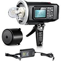 Neewer® 600W GN87 HSS Outdoor Flash Strobe Light with 2.4G Wireless System & 8700mAh Rechargeable Battery to Provide 500 Full Power Flashes Recycle in 0.01-2.5s Bowen Mount NW600BM