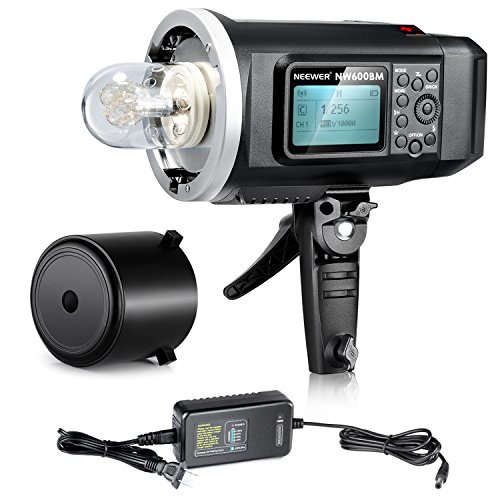 Neewer® 600W GN87 HSS Outdoor Flash Strobe Light with 2.4G Wireless System & 8700mAh Rechargeable Battery to Provide 500 Full Power Flashes Recycle in 0.01-2.5s Bowen Mount NW600BM by Neewer
