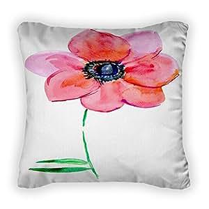 Gear New Beautiful Pink Flower Throw Pillow, Poplin, 16x16, GN11971