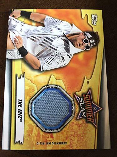 2019 WWE Topps SummerSlam Mat Relics #MR-TM The Miz MEM Official Wrestling Trading Card from WWE SummerSlam