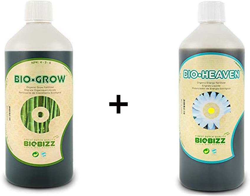 Biobizz Bio-Heaven 1 l y Biobizz Bio-Grow 1 l