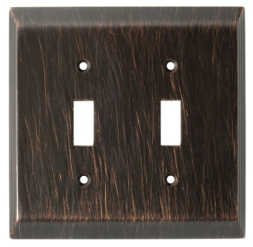 Franklin Brass 126409 Stately Double Toggle Switch Wall Plate / Switch Plate / Cover, Venetian Bronze