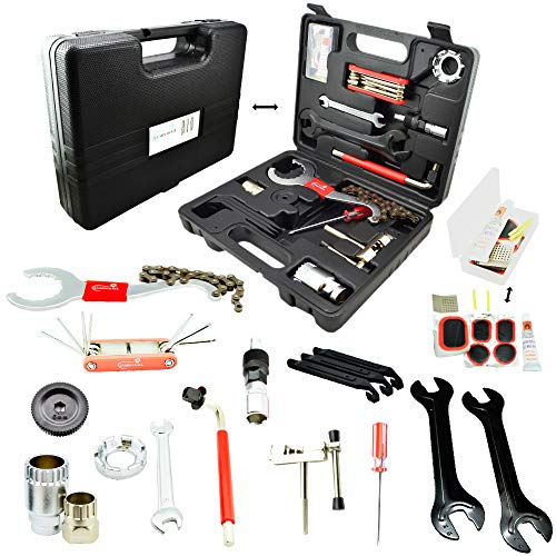 Lumintrail Bike Repair Tool Kit 26 Piece Multi Tool Bicycle Maintenance Tool Set with Tool Box
