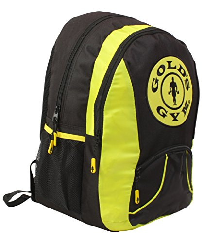 GOLD' S GYM Zaino Borsa Sportiva Back Pack – Nero/Giallo
