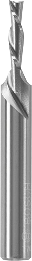 x 1//2 in Bosch 85900MC 1//8 in Solid Carbide Double-Flute Downcut Spiral Router Bit