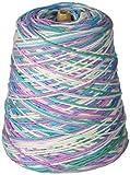 Lily Sugar 'N Cream Yarn, 14 Ounce Cone, Beach Ball Blue, Single Ball