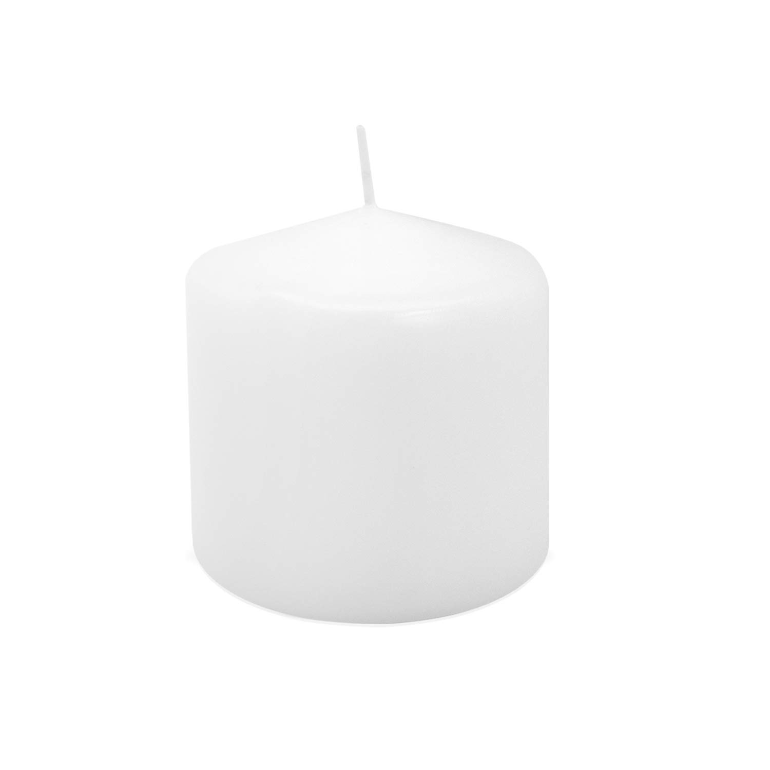 Royal Imports Pillar Candle for Wedding, Birthday, Holiday & Home Decoration, 3x3, White Wax, Set of 12 by Royal Imports