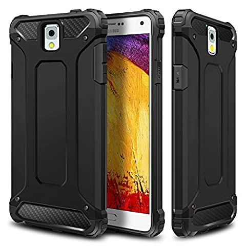 Galaxy Note 3 Case,Wollony Rugged Hybrid Dual Layer Hard Shell Armor Protective Back Case Shockproof Cover for Galaxy Note 3 Case - Slim Fit - Heavy Duty - Impact Resistant (Galaxy Note 3 Phone Case Black)