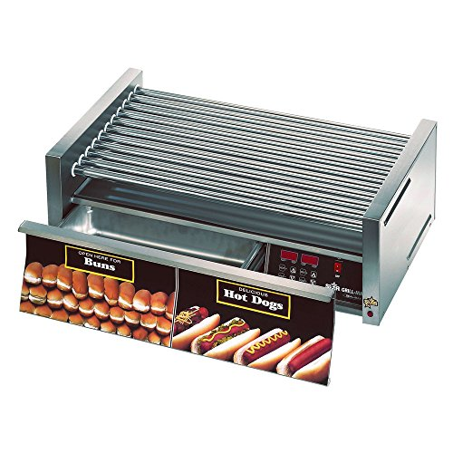Star Manufacturing 50CBDE CSA Roller Grill w/Unheated Drawer & Chrome Rollers