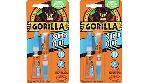 Gorilla 7800101-2 Super Glue (2 Pack), 6 - Super Glue 2 Pack