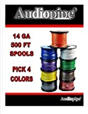 Choose 4 colors 14 Ga 500' ea Audiopipe Car Audio Home Primary Remote Wire