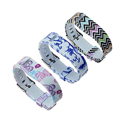 bayite Replacement Wrist Band with Watch Band Clasp Buckle and Fastener for Fitbit Flex Pack of 3