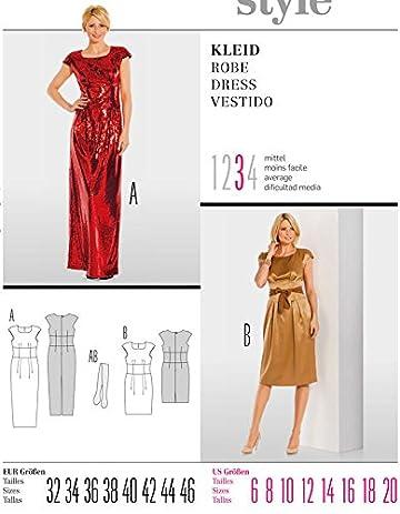 Amazon.com: Burda sewing pattern 7334 evening / cocktail dress - Size 6-20: Home & Kitchen