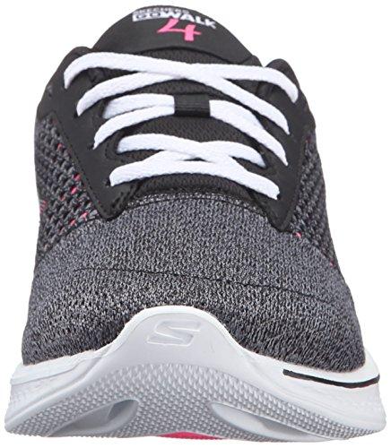 Basses Exceed Skechers Noir Baskets Gowalk 4 Bkhp Femme 16TxBU