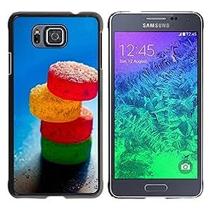 CASECO - Samsung ALPHA G850 - Sugar Candy - Delgado Negro Plástico caso cubierta Shell Armor Funda Case Cover - Caramelo de azúcar