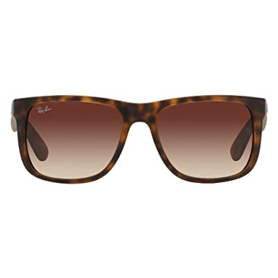 amazon com ray ban justin rb4165 710 13 havana brown gradient 55mm rh amazon com
