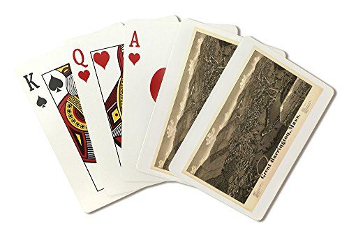 Great Barrington, Massachusetts - Panoramic Map (Playing Card Deck - 52 Card Poker Size with Jokers)