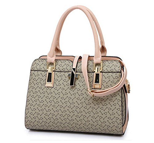 Shoulder Fish Women's fashion Handbag brown Messenger Bag PU Bag Leather grey Bone Pattern One qCax86C