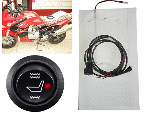Kupai Motorcycle 12v Carbon Fiber Round High-low Switch Heating Pad Electrically Heated Seat Cushion Seat Heating Cushion Winter Built-in Modification Type 1 Seat 3 Years Warranty Motorcycle Seats Seat Heating Carbon Fiber Heater Heated Warmer Kit Accessories Material Fabric Cushion Sheet Control Pad Bag Covers for Cover Sheepskin Rear Sportbike Rain Fur