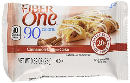 Fiber One 90 Calorie Bar Cinnamon Coffee Cake 6 count-5.34oz Box - Pack of 4