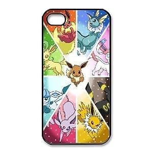 iphone4 4s phone case Black Pocket Monster XXD0017773
